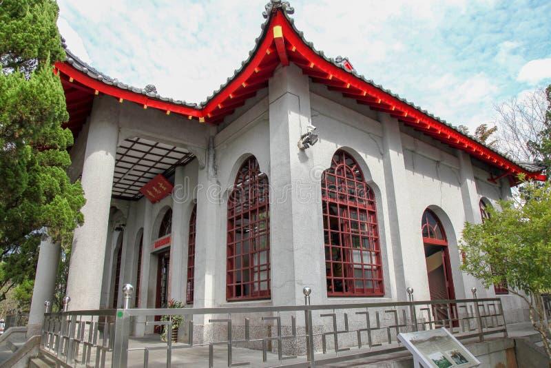 NANTOU, TAIWAN - October 13, 2018:Xuanguang Temple is famous in sun moon lake, Taipei, Taiwan stock photo