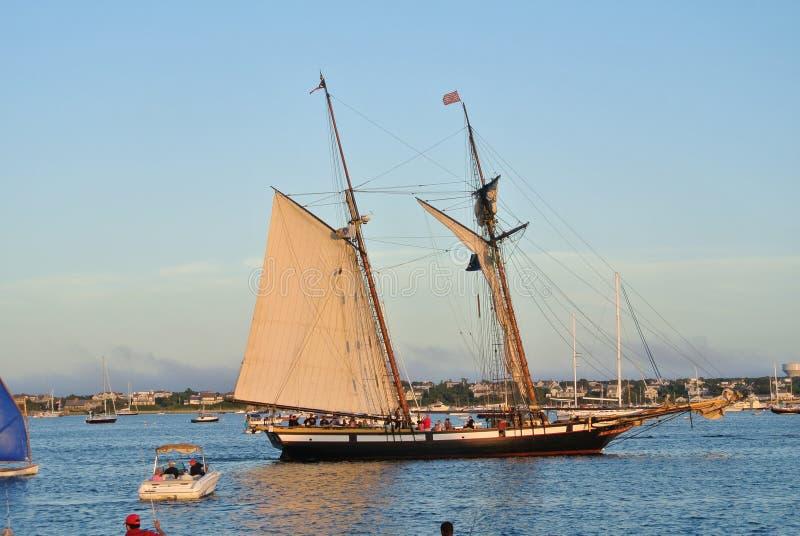 Nantucket-Hafen stockfotografie