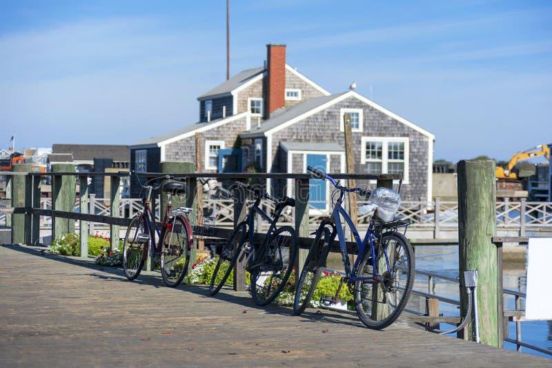 Nantucket-Hafen morgens lizenzfreie stockfotografie