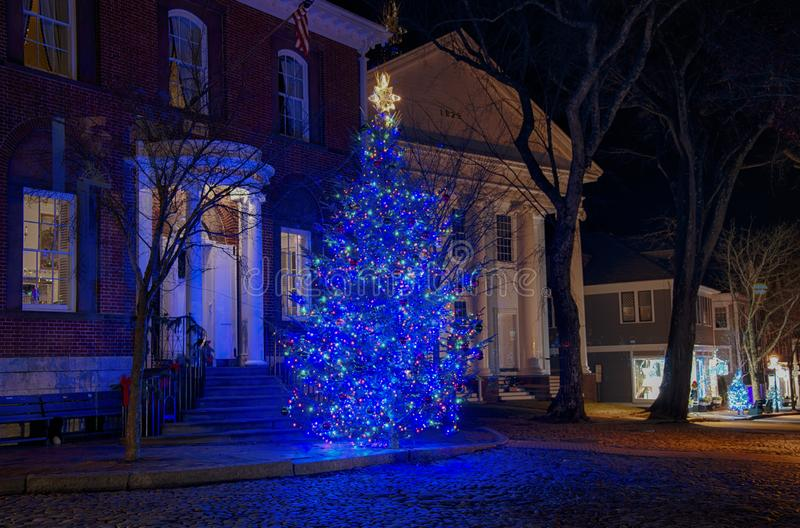 Nantucket-Weihnachten stockbild