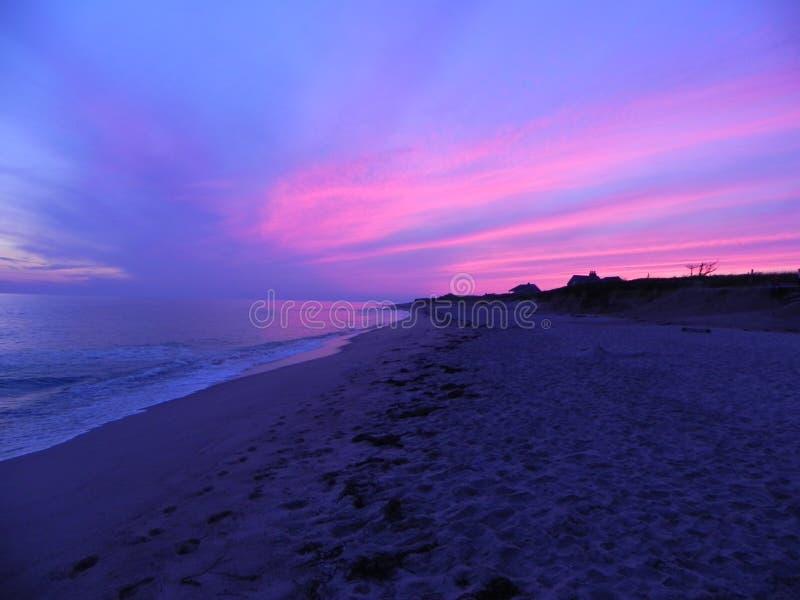 Nantucketzonsondergang royalty-vrije stock foto