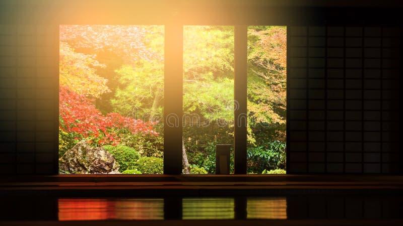 Nanzen -nanzen-ji tempelinterio bij de herfst, Kyoto stock fotografie