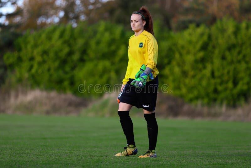 Naoisha McAloon pendant le match de ligue national des femmes entre les femmes de Cork City FC et le Peamount a uni photos libres de droits