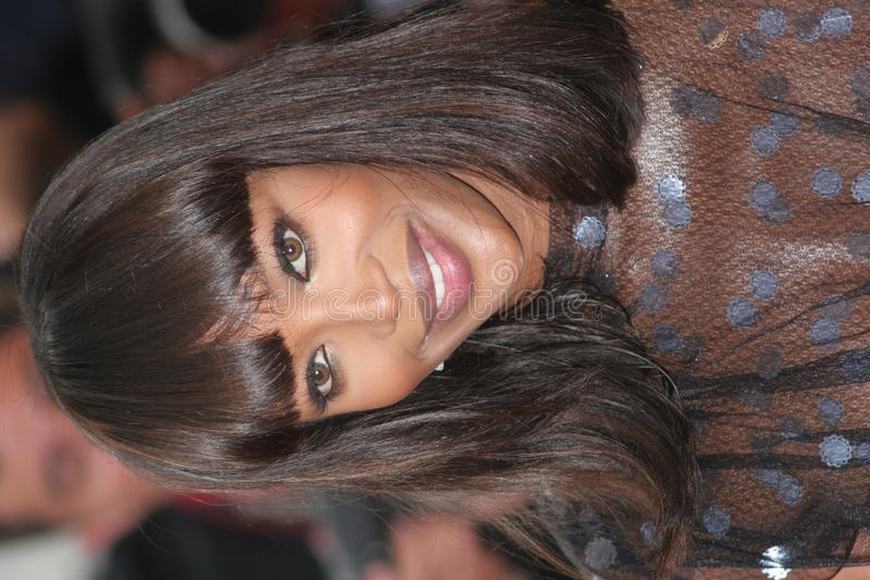 Naomi Campbell. CANNES, FRANCE - MAY 22: Naomi Campbell attends a premiere the film 'Le Scaphandre Et Le Papillon' at the Palais des Festivals during the 60th royalty free stock photos
