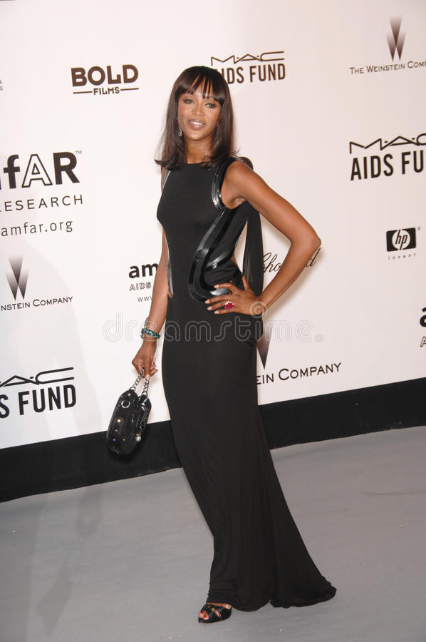 Naomi Campbell. At amfAR's Cinema Against AIDS 2007 Gala at Le Moulin de Mougins restaurant just outside Cannes. May 23, 2007 Cannes, France. 2007 Paul Smith / royalty free stock photo