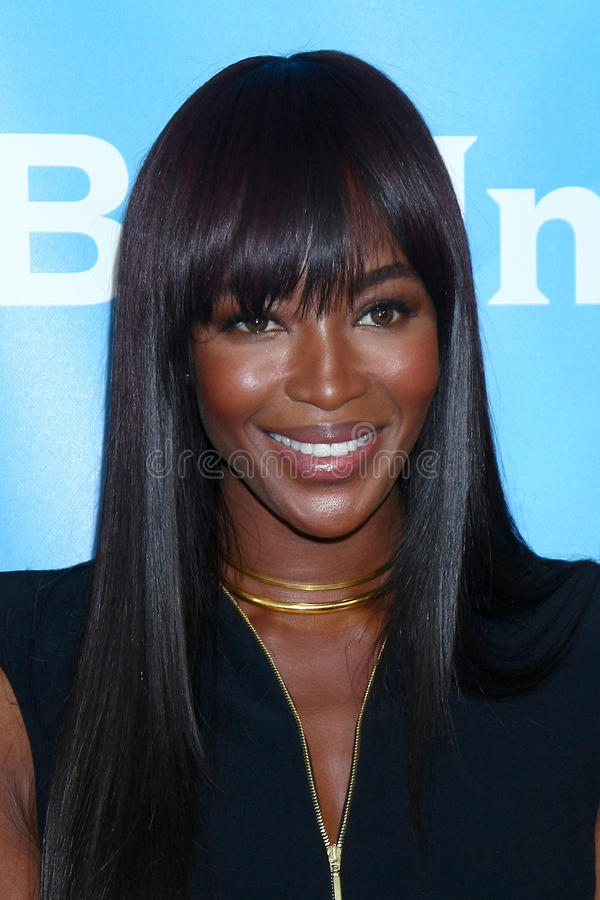 Naomi Campbell. LOS ANGELES - JAN 7: Naomi Campbell attends the NBCUniversal 2013 TCA Winter Press Tour at Langham Huntington Hotel on January 7, 2013 in stock images