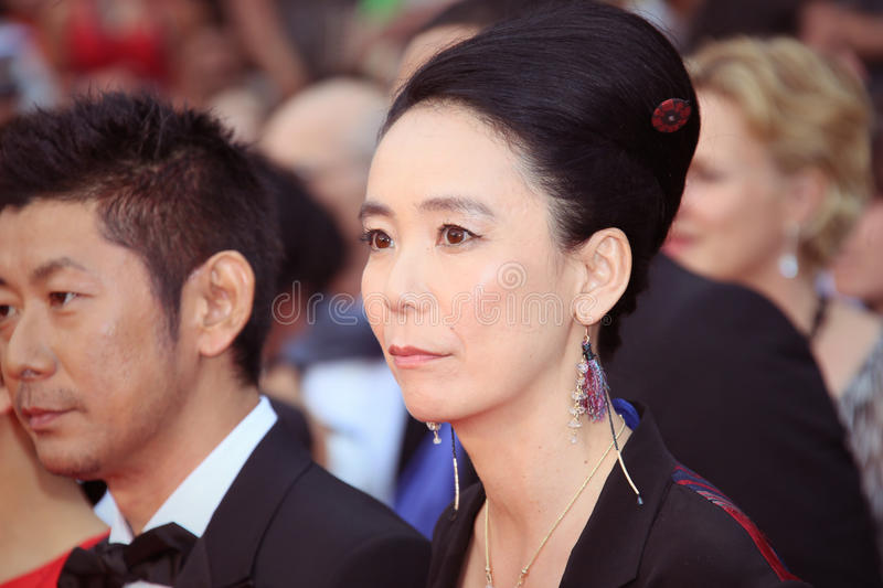 Naomi Kawase. Attends the 'Mad Max : Fury Road' Premiere during the 68th annual Cannes Film Festival on May 14, 2015 in Cannes, France stock images