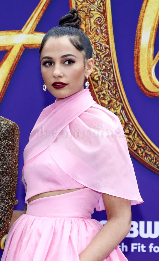 Naomi Scott. At the Los Angeles premiere of `Aladdin` held at the El Capitan Theatre in Hollywood, USA on May 21, 2019 stock image