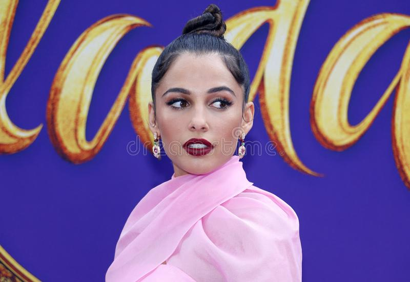 Naomi Scott. At the Los Angeles premiere of `Aladdin` held at the El Capitan Theatre in Hollywood, USA on May 21, 2019 royalty free stock photography