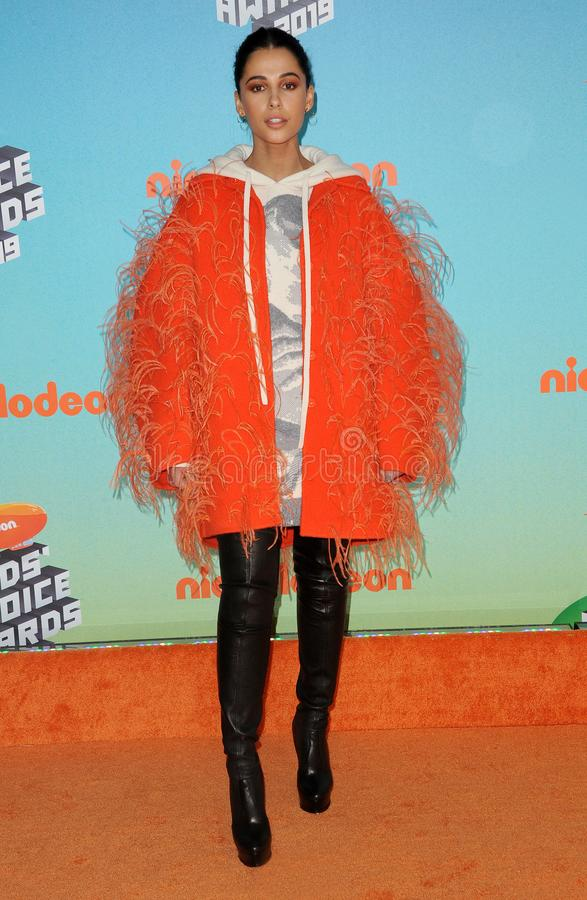 Naomi Scott. At the Nickelodeon`s 2019 Kids` Choice Awards held at the Galen Center in Los Angeles, USA on March 23, 2019 stock photo