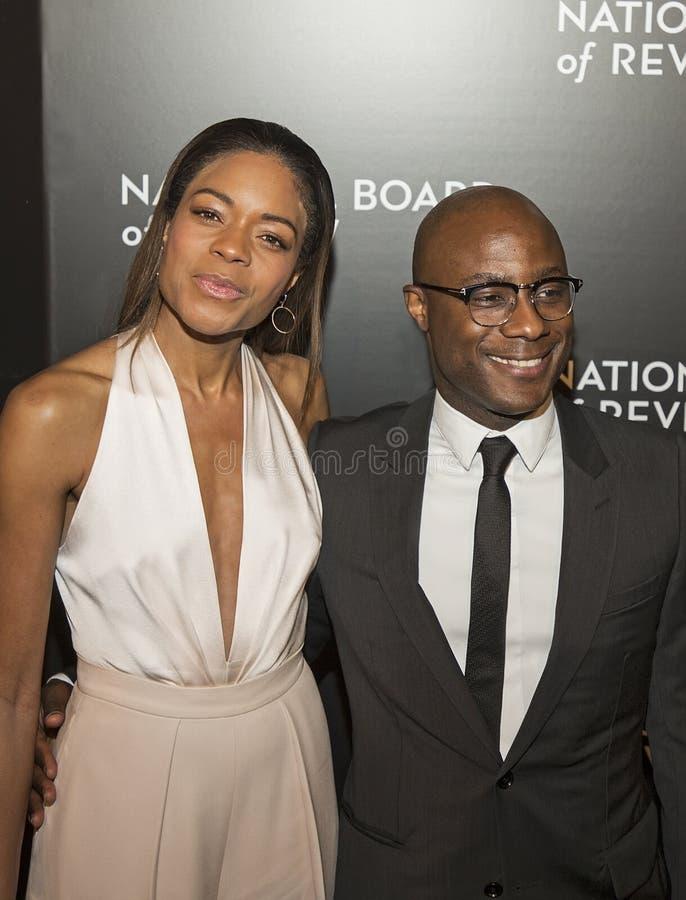 Naomie Harris und Barry Jenkins Shine an den NBR-Film-Preisen lizenzfreie stockfotos
