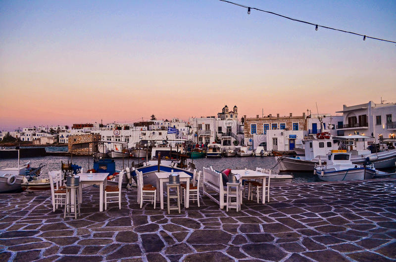 Naousa, Paros, Grèce photo stock