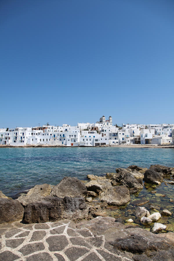 Naousa On Paros Island Stock Images