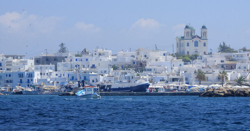 Naoussa by i Grekland arkivbild