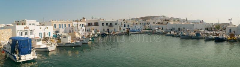 Naoussahaven bij Paros-eiland in Griekenland royalty-vrije stock foto's