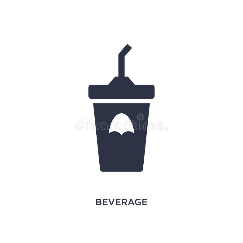 napój ikona na białym tle Prosta element ilustracja od fasta food pojęcia royalty ilustracja