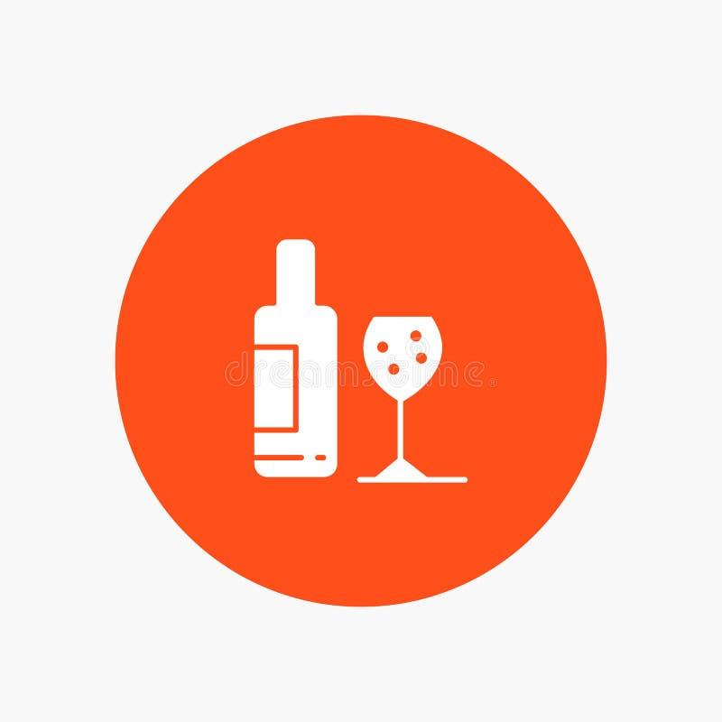 Napój, butelka, szkło, miłość ilustracja wektor