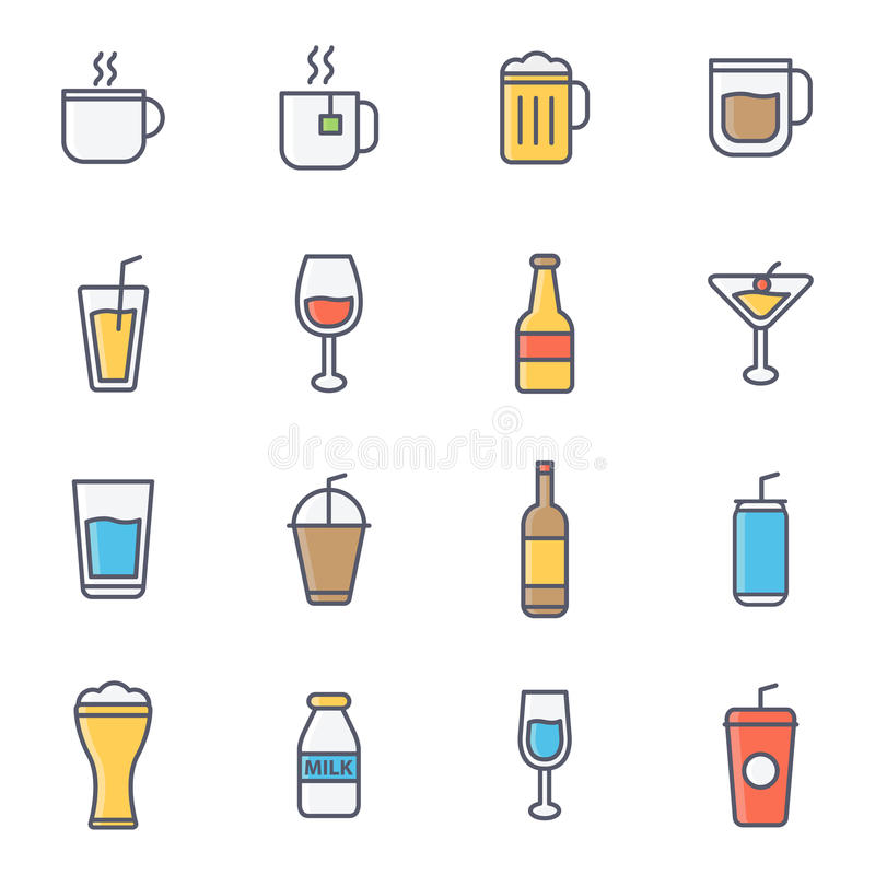 Napój I napoje royalty ilustracja