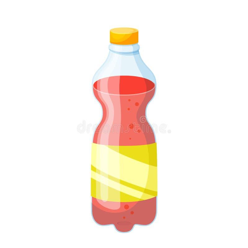 Napój plastikowa butelka ilustracji