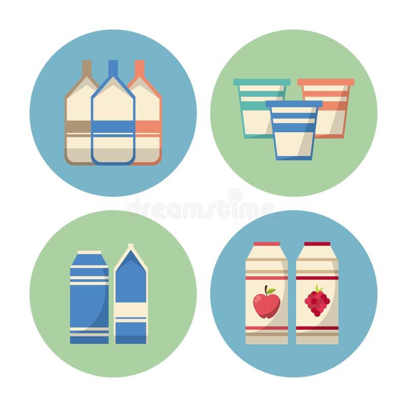 Napój round ikony ilustracji