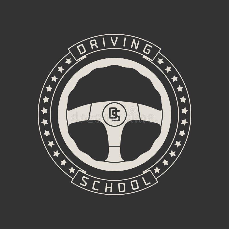 Napędowego licencja szkoły wektorowy logo, znak, emblemat ilustracja wektor