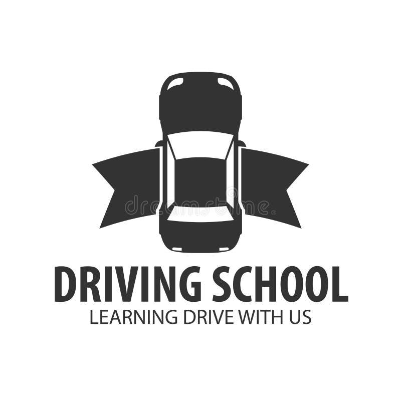 Napędowej szkoły logo i emblemata szablon Auto edukacja również zwrócić corel ilustracji wektora ilustracja wektor