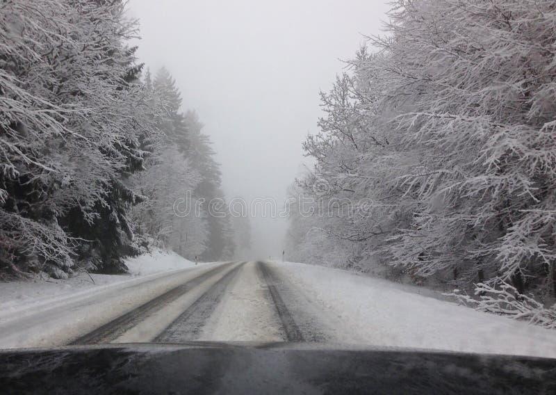 napędowy śnieg fotografia stock