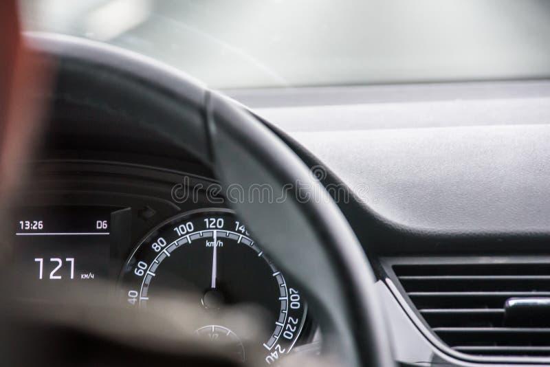Napędowy samochód nad prędkością obraz royalty free