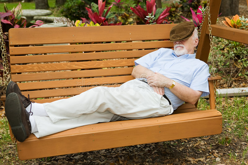 Nap in the Park royalty free stock image