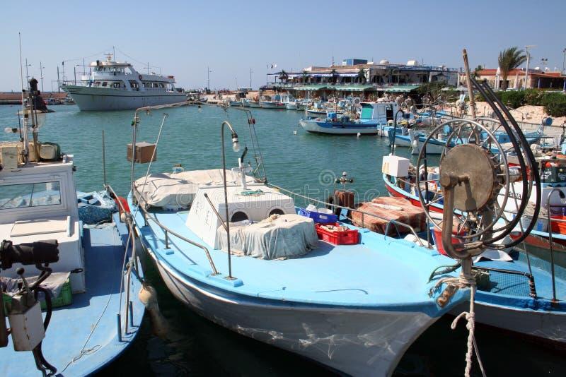 napa гавани ayia сценарное стоковые фото