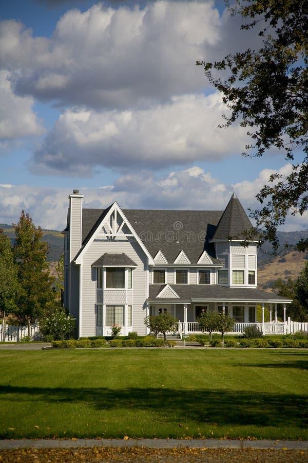 Napa County, CA Custom Home royalty free stock photo