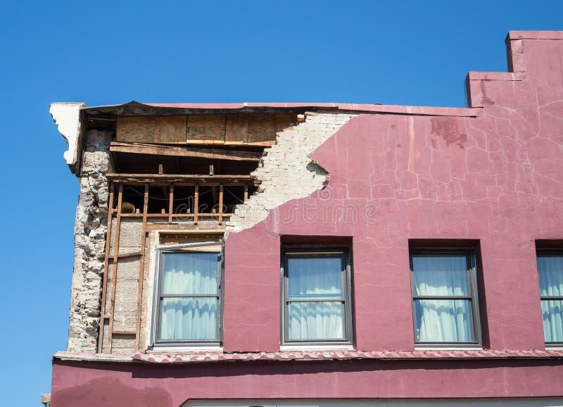 Napa, dano do terremoto de Califórnia imagens de stock