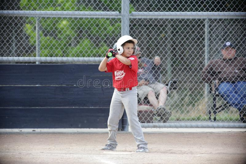 Napa Little League Baseball and the boy is driven royalty free stock photos