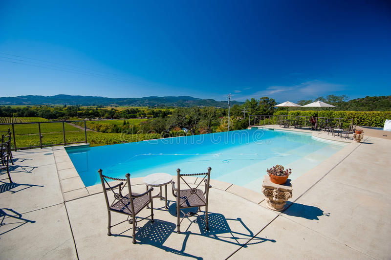 Napa Valley vinodling - Napa Valley, Kalifornien royaltyfri fotografi