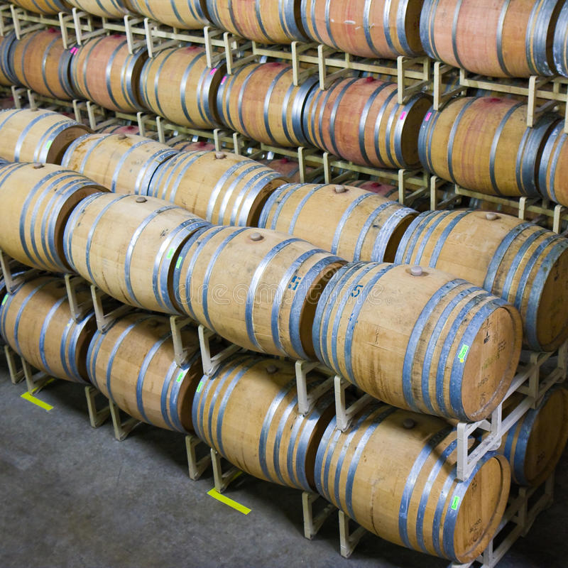 Napa Valley Wine Cellar stock photography
