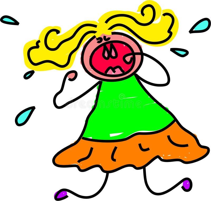 napad gniewu dzieciaka. ilustracja wektor