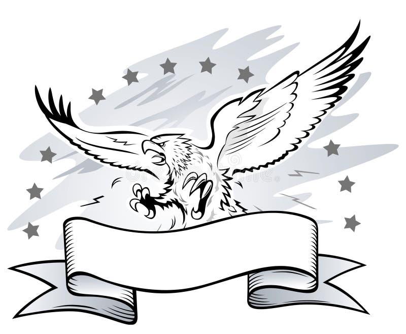 napadania orła insygnia ilustracji