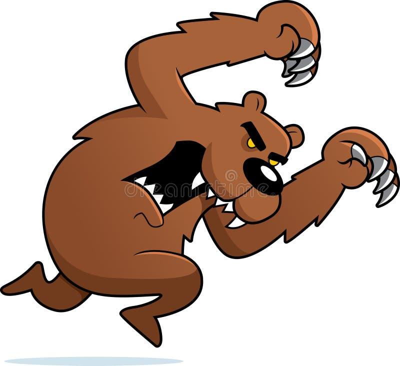 napadanie gniewny niedźwiedź ilustracji