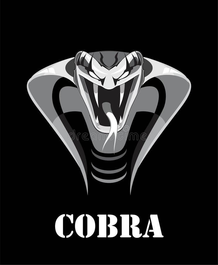 Napadanie kobra Królewiątko kobra royalty ilustracja