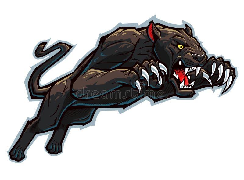 Napadanie pantera ilustracja wektor