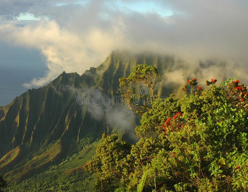 Napali Clouds, Kauai Stock Images