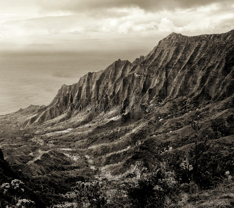 Download Napali Coast stock image. Image of sepia, seasons, coast - 32325545