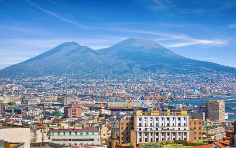 Napels en de Vesuvius, Itali? stock afbeeldingen