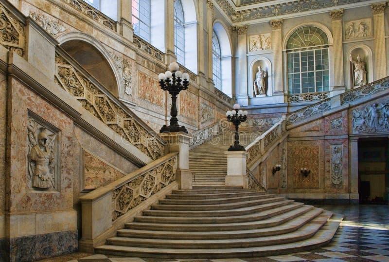 Napels-koninklijk paleis royalty-vrije stock afbeelding
