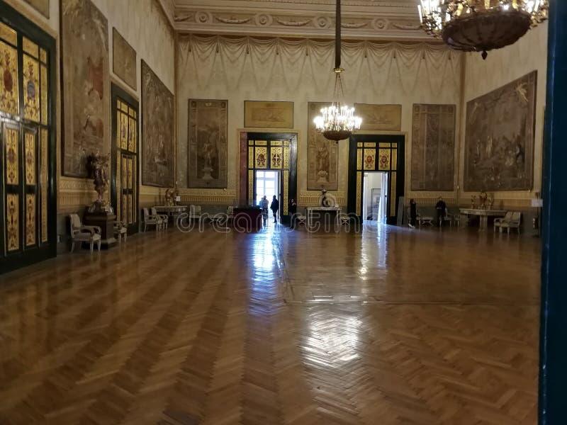 Napels - Zaal van Hercules van Royal Palace royalty-vrije stock afbeelding