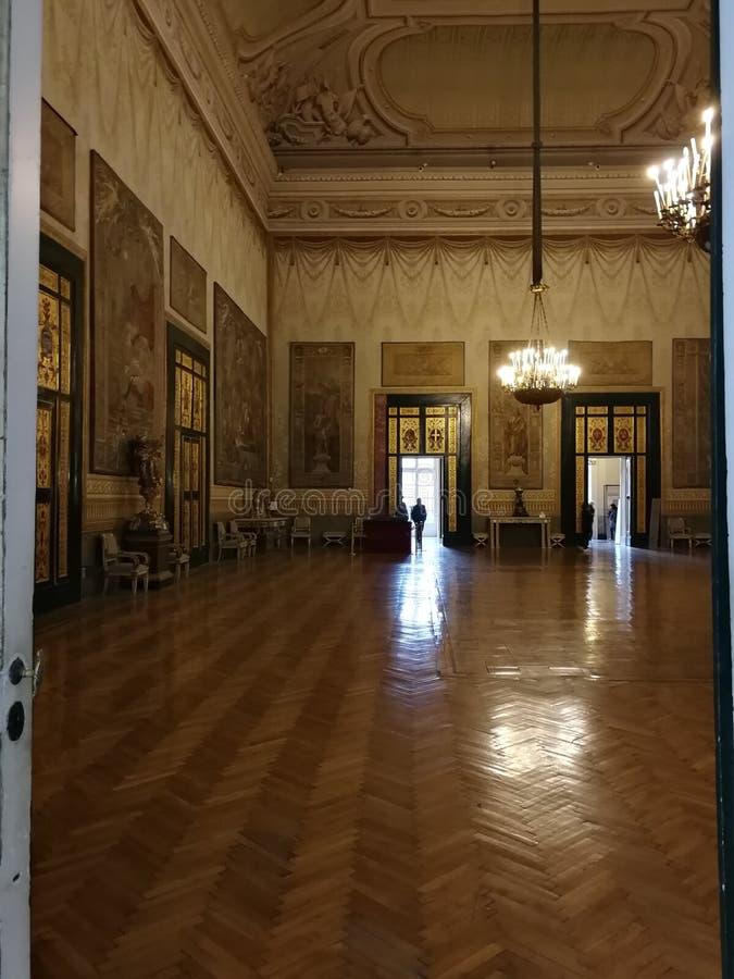 Napels - Zaal van Hercules van Royal Palace stock afbeeldingen