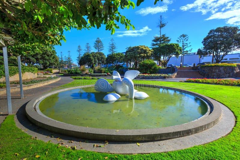 Napier, Νέα Ζηλανδία Αφηρημένη τέχνη στο πάρκο στοκ φωτογραφίες