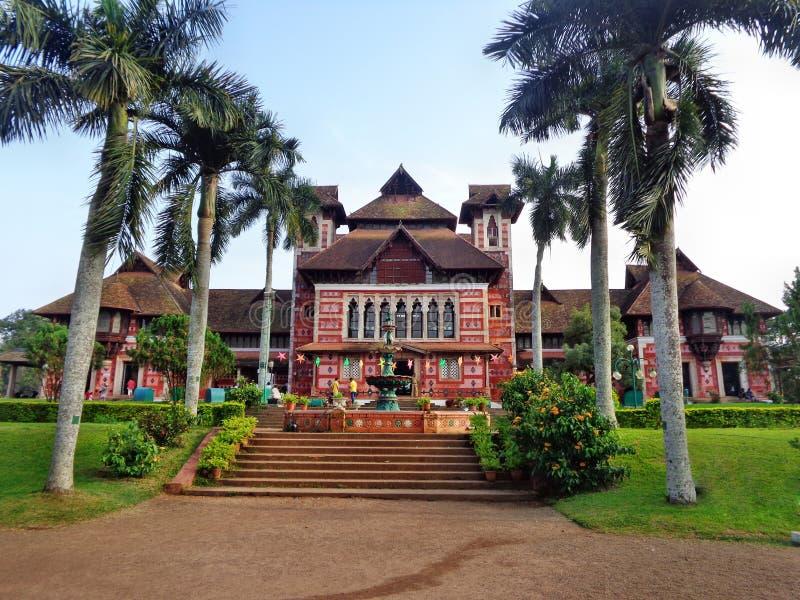 Napier museum (Kerala historisk byggnad) arkivfoto
