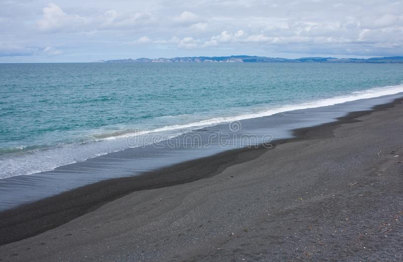 Napier, New Zealand. Beach looking out over Napier beach, New Zealand stock image