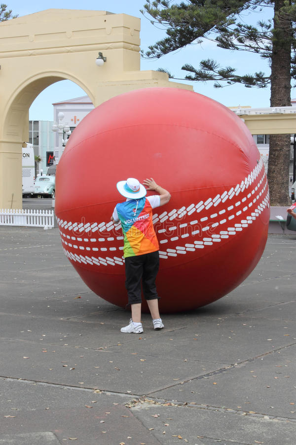 Napier, New Zealand - March 7, 2015: ICC Cricket World Cup, Marine Parade Gardens Park Festivities. Napier, New Zealand - March 7, 2015: ICC Cricket World Cup stock photos
